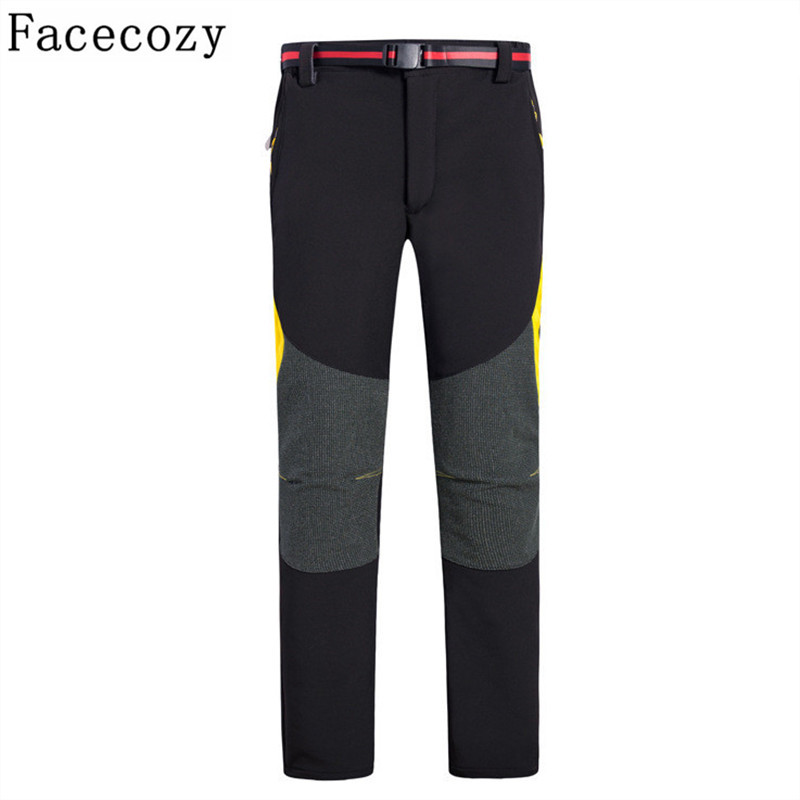 Facecozy Winter Outdoor Sofeshell Hiking&amp;Camping Pants Women&amp;Men Breathable Sport Fleece Climbing Trousers<br><br>Aliexpress