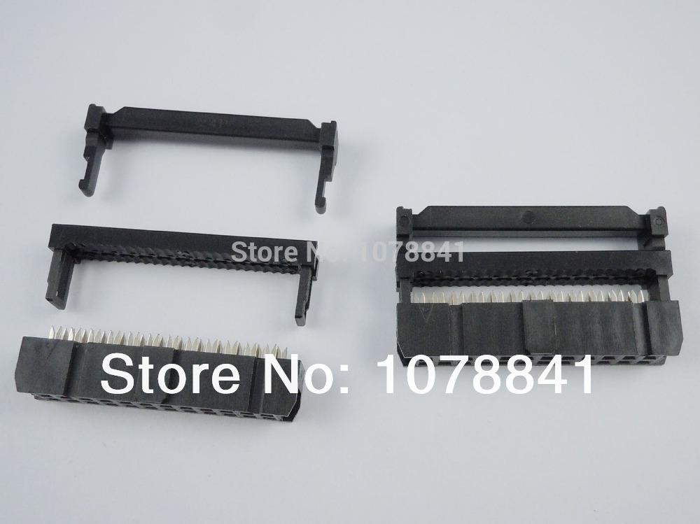 100 Pcs Per Lot 2.54mm Pitch 2x12 Pin 24 Pin IDC FC Female Header Socket Connector<br><br>Aliexpress