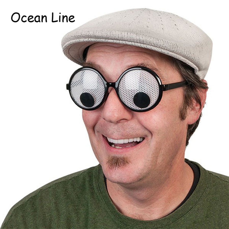 Funny Googly Eyes Goggles Shaking Eyes Party Glasses and Toys for Party Cosplay Costume and Halloween Party Decoration(China (Mainland))