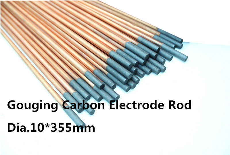 dia.10*355mm Copper Plating welding Carbon Rod 30pcs /graphite electrode /carbon Round rod<br><br>Aliexpress