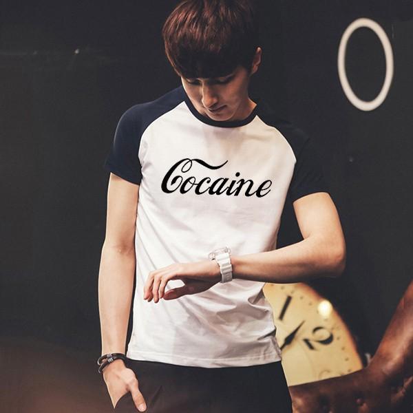 600PX Raglan Short Sleeve T-shirt Co caine 7