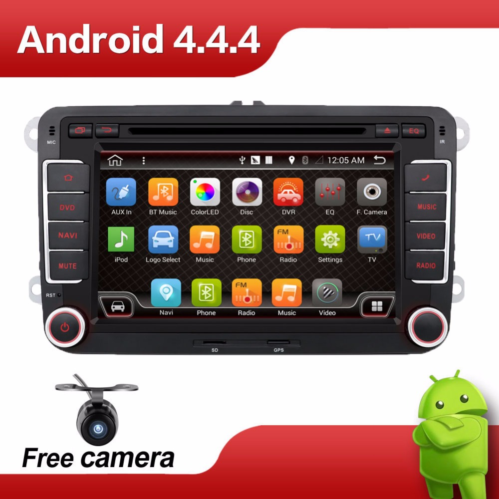 2din Android Car DVD player 2 din for VW Golf Jetta Tiguan Touran auto radio Android GPS Navi dual core(China (Mainland))