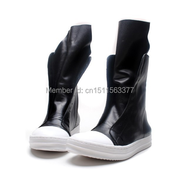 LUXURY 2015 spring new winter boots owen mens ankle casual shoes men leather sneakers fashion tide - brand showstage store