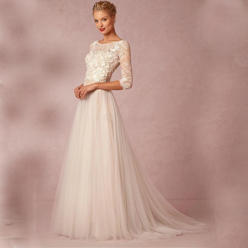 Свадебное платье с длинными рукавом москва