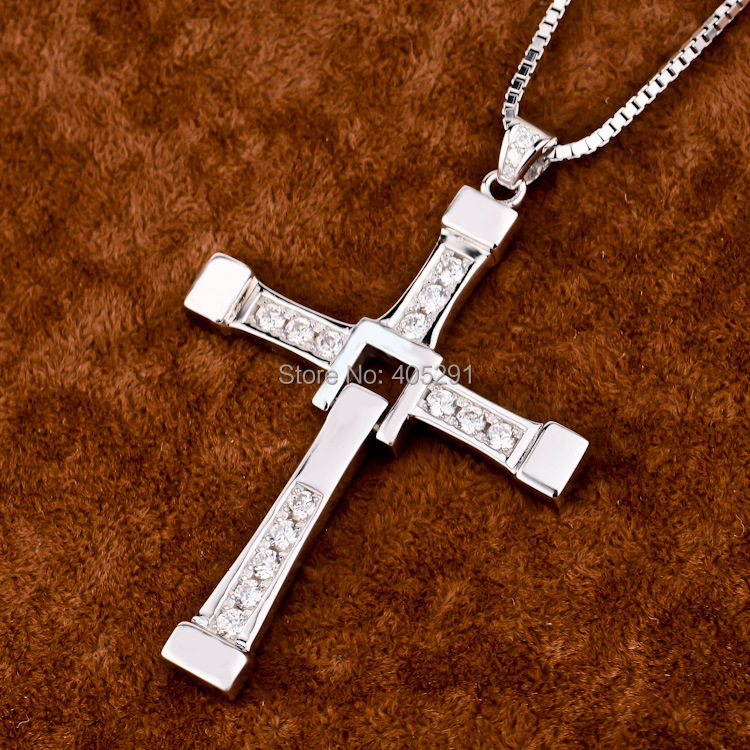 925 sterling silver jewelry Fast and Furious Don Toledo Cross Pendant Necklaces<br><br>Aliexpress
