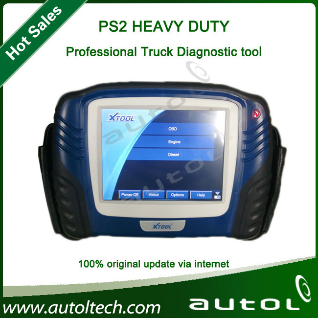 Xtool Ps2 Heavy Duty Truck Scanner Automotive Diagnostic Tool Built-In Can Bus Chip(China (Mainland))