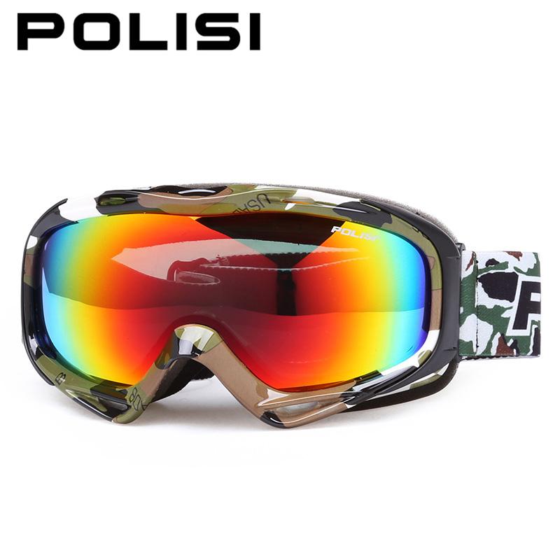 POLISI Outdoor Snow Snowboard Ski Goggles Polarized Double Layer Lens Anti-Fog Skiing Glasses Men Women Snowmobile Skate Eyewear