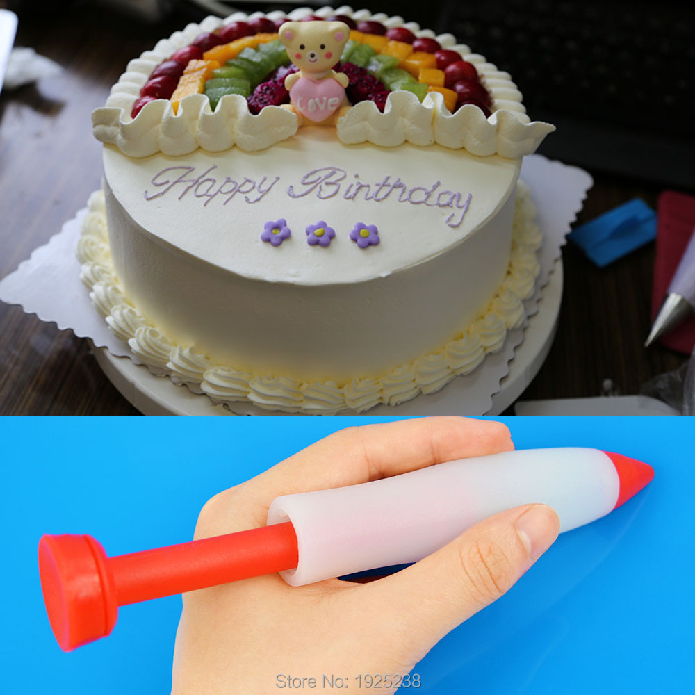 Cream Chocolate Icing Decorating Syringe Cake Pen Silicone Plate Cookie Pastry(China (Mainland))