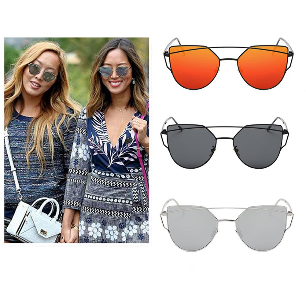 Women Ladies UV400 Cat Eye Sunglasses Eyewears Sunglass Coating Flat Panel Lens Black Metal Frame Goggle Glasse 3 Colors(China (Mainland))