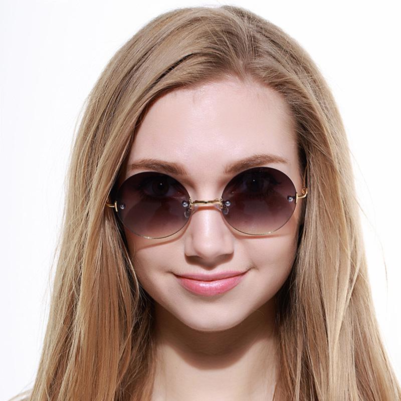 online glass frames gk8w  Rimless Polarized Sunglasses 2016 Factory Direct Wholesale Sun Glasses  Women Brand Designer Female Eyewear with Box