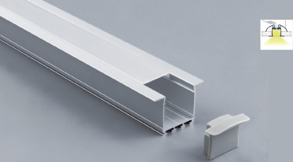Free Shipping 2m/pcs 25pcs/lot China supplier aluminium profile with cover for LED rigid strip/LED Linear Light Bar Fixture(China (Mainland))