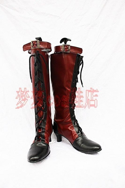Фотография Cos Anime Shoes Black Butler Kuroshitsuji Ciel Phantomhive Cosplay Boots Customized