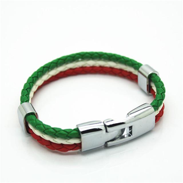 Итальянский цветов флага панк стиль Кожа PU является высокотехнологичным и высокосортным ...