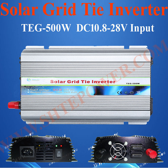CE Rohs Stackable 24V DC to 220V AC Grid Tie Solar Inverter 500W(China (Mainland))