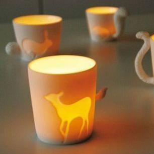 Free shipping 48pcs/lot Fairy tale animal cup Candle cup Creative Gifts(China (Mainland))