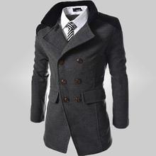 Free Shipping 2016New Arrival Fashion Brand Men's Slim Fit Design Casual Brand Men's Wind Coats 105(China (Mainland))