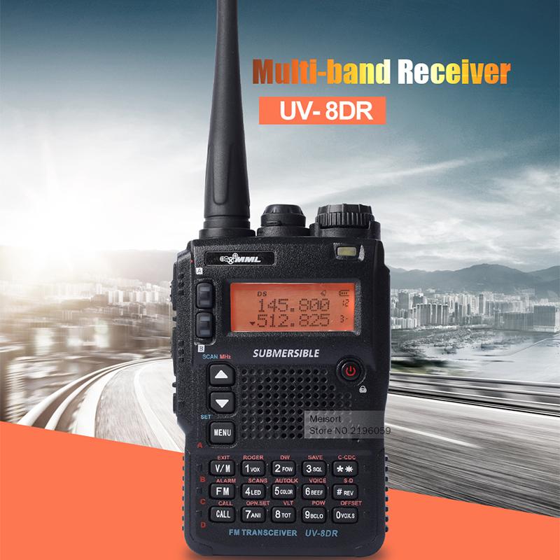 Walki Talki MML UV-8DR Long Distance Walkie Talkie Tri-Band 8W Two Way Ham Radio Comunicador Professional Handheld VHF Radios(China (Mainland))