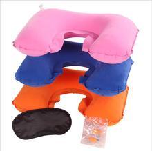 Travel Sambo U-shaped Pillow Flocking Inflatable Suit Eyeshade Advertising Gifts Custom LOGO Support(China (Mainland))