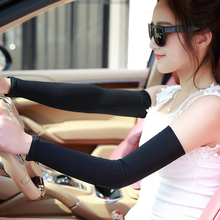 Long Arm Cooling Sleeves Fingerless Gloves UV Sun Protection Cover Golf Driving Arm Warmers 6 Colors(China (Mainland))
