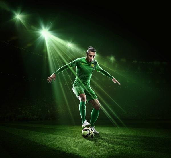 2016 Summer China beijing New Fashion Football Sport team Soccer Jersey good Quality Outdoor Green Football Uniforms Sets(China (Mainland))