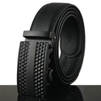 2016 Stylish Belts Men High Quality Genuine Leather Designer Belts For Men Belts Automatic Metal Buckle ceinture luxe homme Q198