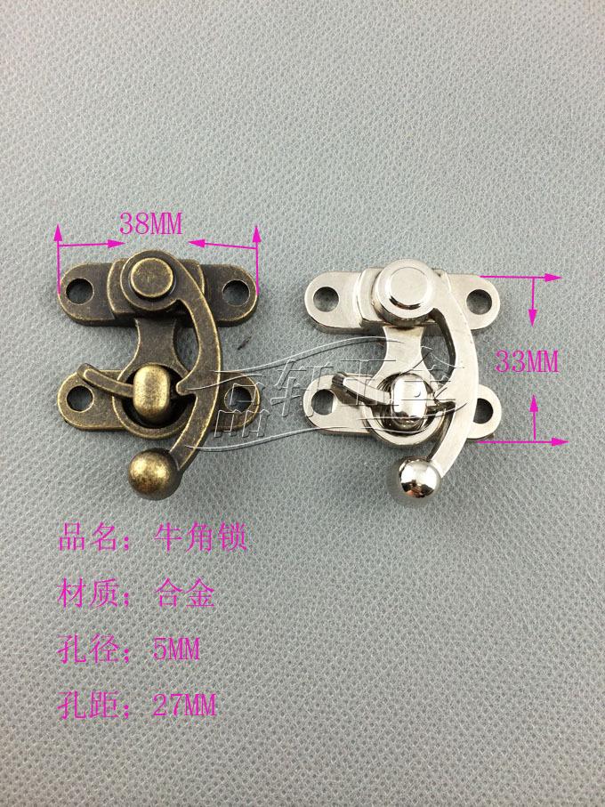 Factory direct zinc alloy hook lock hook lock horns buckle luggage lock M053<br><br>Aliexpress