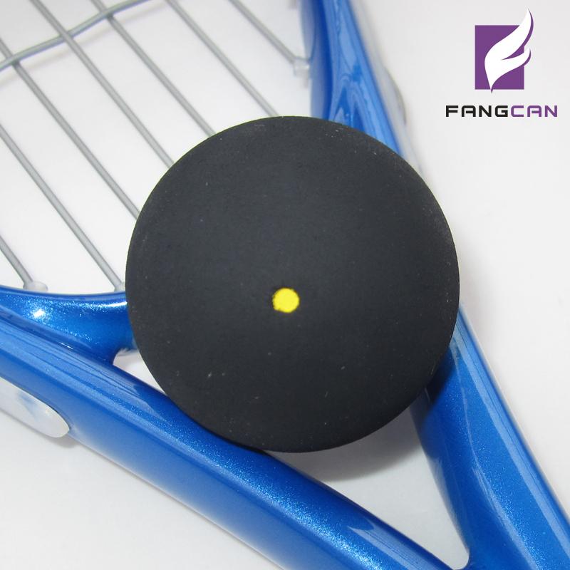 (35pcs/lot) FANGCAN high-end Squash ball, One yellow dot, advanced type, rubber squash ball(China (Mainland))