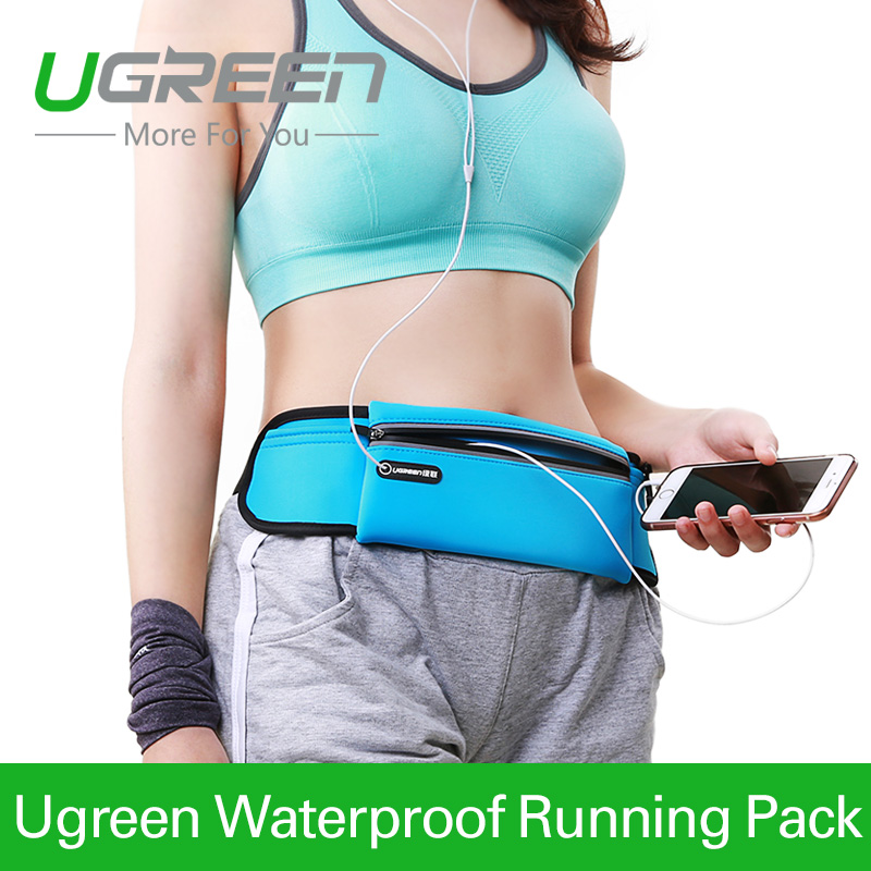 Ugreen Running Waist Pack Waterproof Belt Adjustable Bag Nylon Pouch Mobile Phone Hold for iPhone 6s 6 5 Samsung HTC Meizu LG(China (Mainland))