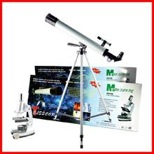 Zoom 100x 400x 1200x juguete de regalo de cumpleaños microscopio y telescopio para niños y estudiante