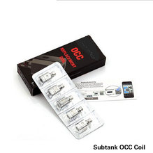 2015 newest Subtank Organic Cotton Coil 0.5ohm/1.2ohm OCC coils for Subtank Atomizers OCC coil 5pcs/lot