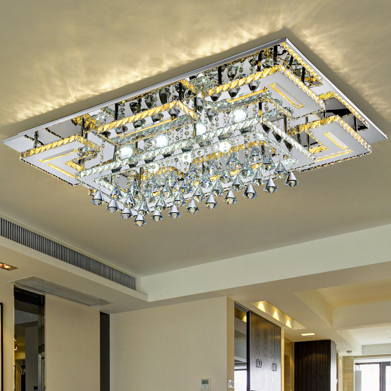 Modern Simple  Lamp Led Modern Celling Light rectangle  Ceiling Light Crystal Mounted Crystal Ceiling Light Fixture