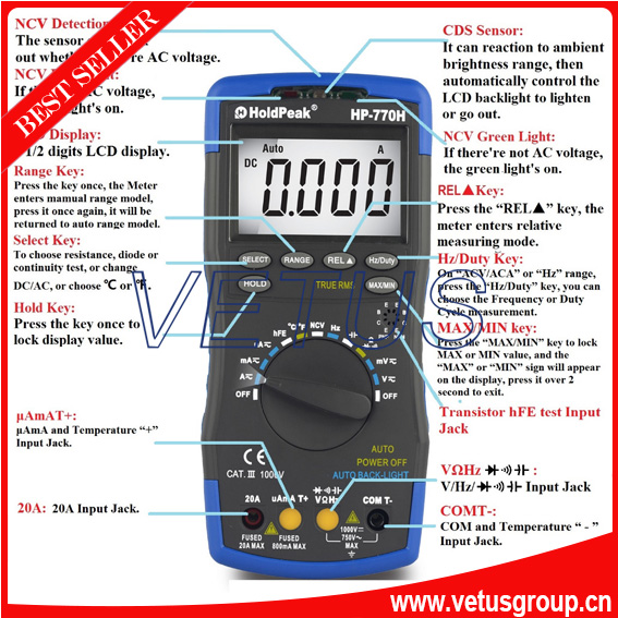 HP-770H multimeter probes with scope digital multimeter(China (Mainland))