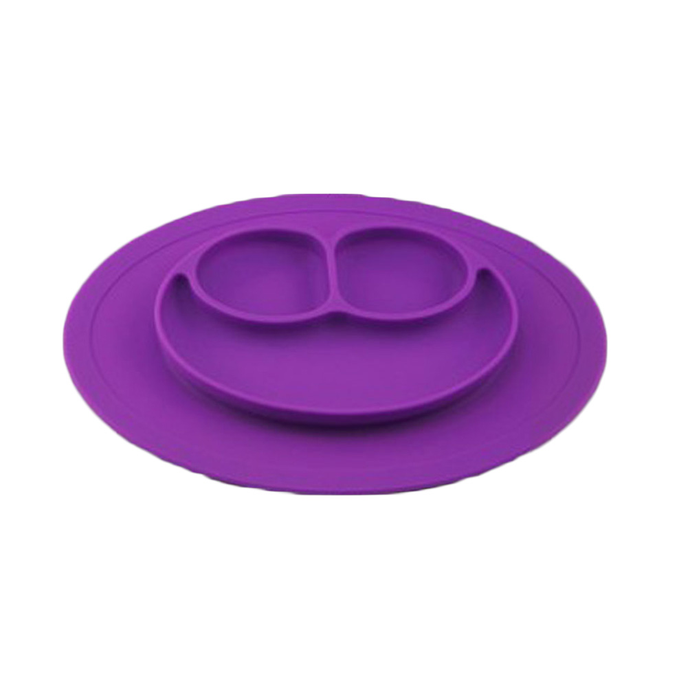 New high quality Baby Plate One-piece Silicone Plate Tray Dishes Food Holder for Baby Toddler Kid Children 7colors