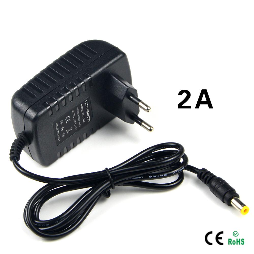1Pcs light Switch Power Supply Charger Transformer Adapter 110V 220V to DC 12V 2A RGB LED Strip 5050 3528 EU Cord Plug Socket(China (Mainland))
