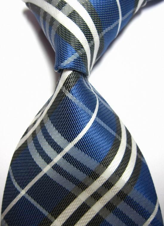 NT0427 Royal Black Stripe Man s Jacquard Woven Silk Polyester Fashion Tie New Classic Business Party