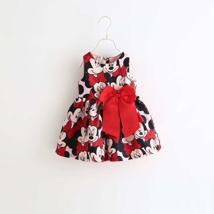 Spring and summer style new arrive kids girl cartoon bow Pompon dresses female treasure vest princess dress free shipping(China (Mainland))