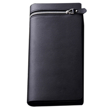 Best Deal Fashion Design Leather Men s Wallet Business Style Brand Men s Long Wallet Zipper