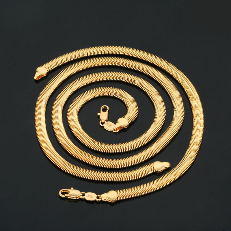 New 18K gold-plated necklace, upscale men's jewelry, the quality is very good, easy to fade(China (Mainland))