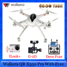 FPV Drone Rc Quadrocopter Walkera X350 Pro GPS Auto-Pilot RX705 Receiver With DEVO F12E Transmitter G-2D Gimbal Camera iLook +