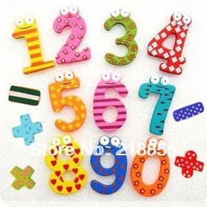 10packs/lot (15pcs/pack), Creative Wooden fridge magnet sticker, Fridge magnet,Refrigerator magnet,Free shipping Arabic numbers