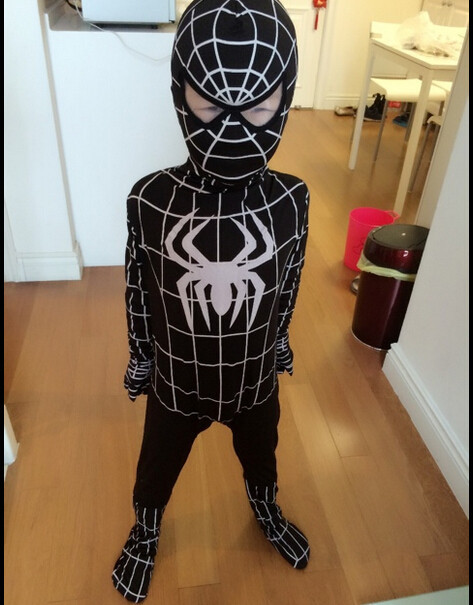 DB23728 Black spiderman costume-13