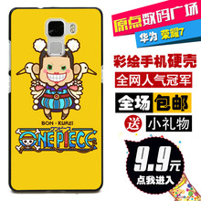 New Hard Back Protective Cover Case For Huawei Glory/Honor 7 Fashion Cartoon Phone Case Evangelion 64
