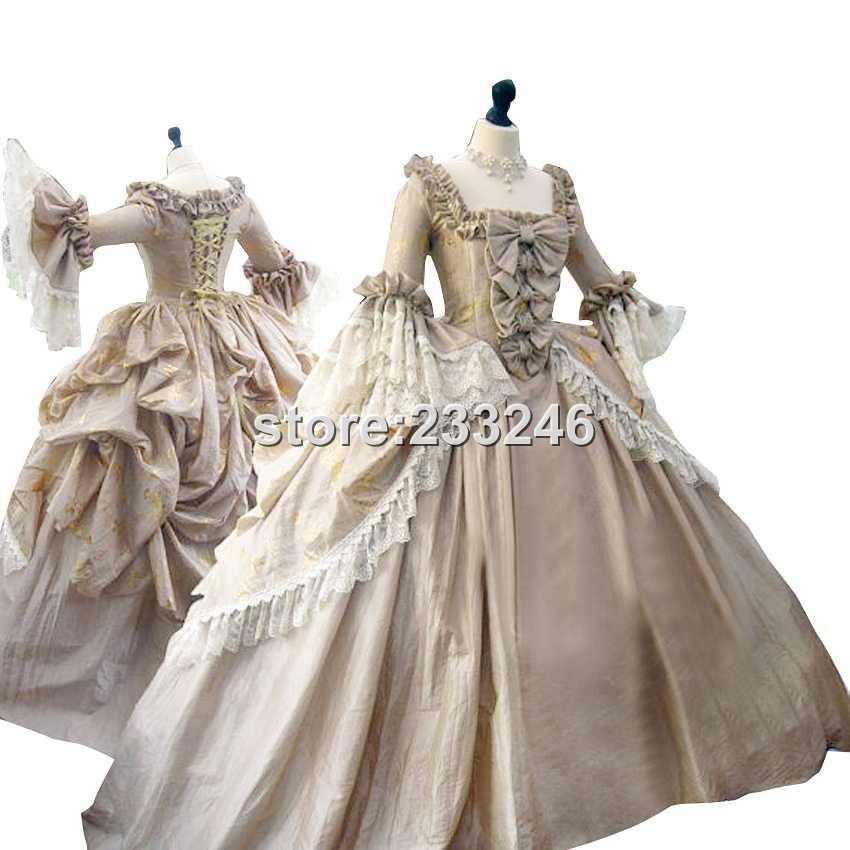 Custom-made Victorian Era Dress Gothic Period Gown Wedding Reenactment Theatre Clothing Renaissance Medieval Costume(China (Mainland))