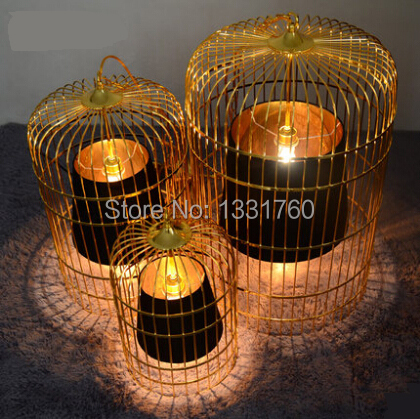 Spain pierre gonalons sunset cage lamp plating golden chrome birdcage lamp designed by pierre gonalons livingroom dining room(China (Mainland))