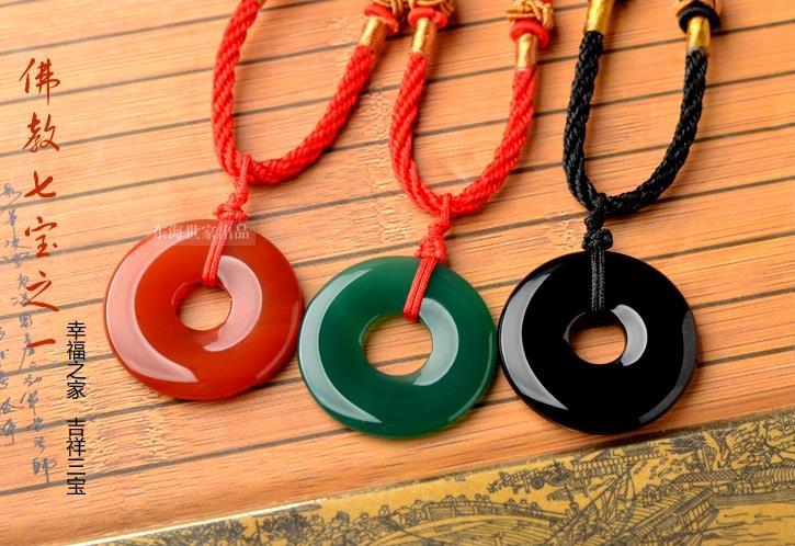 2015 necklace red green black jewelry jade natural stone for Red black and green jewelry