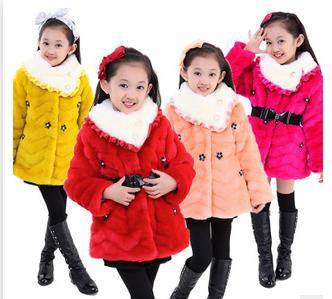 The winter new fashion collars girl maomao garments Six little flower girl cotton-padded clothes ./9ZZ/<br><br>Aliexpress