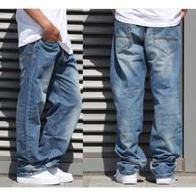 2015 Trendy sales mens baggy jeans hiphop retro Old schoold jeans denim loose jeans pants plus size 44 46 48,JA463(China (Mainland))