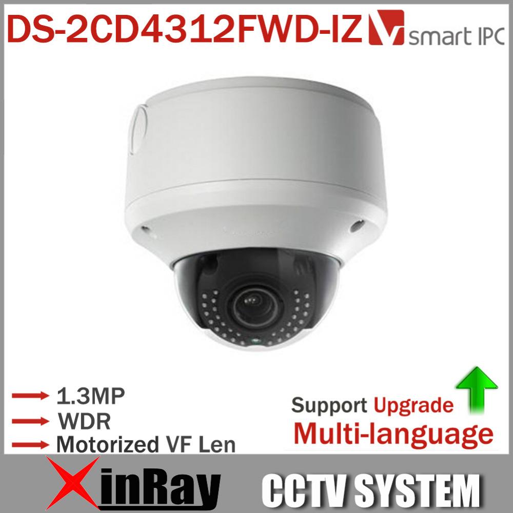 Smart IP CCTV Camera DS-2CD4312FWD-IZ IPC 1.3MP WDR Outdoor Dome Camera Smart IR VQD Face Detection Varif Motorized len<br><br>Aliexpress