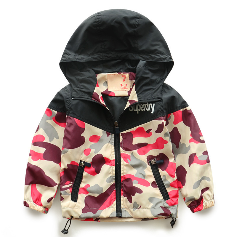 Brand Kids Toddler boy Jacket Spring Autumn Camo hooded Coat Baby Clothes Minnie Jackets For Boys Children OuterWear Clothing(China (Mainland))