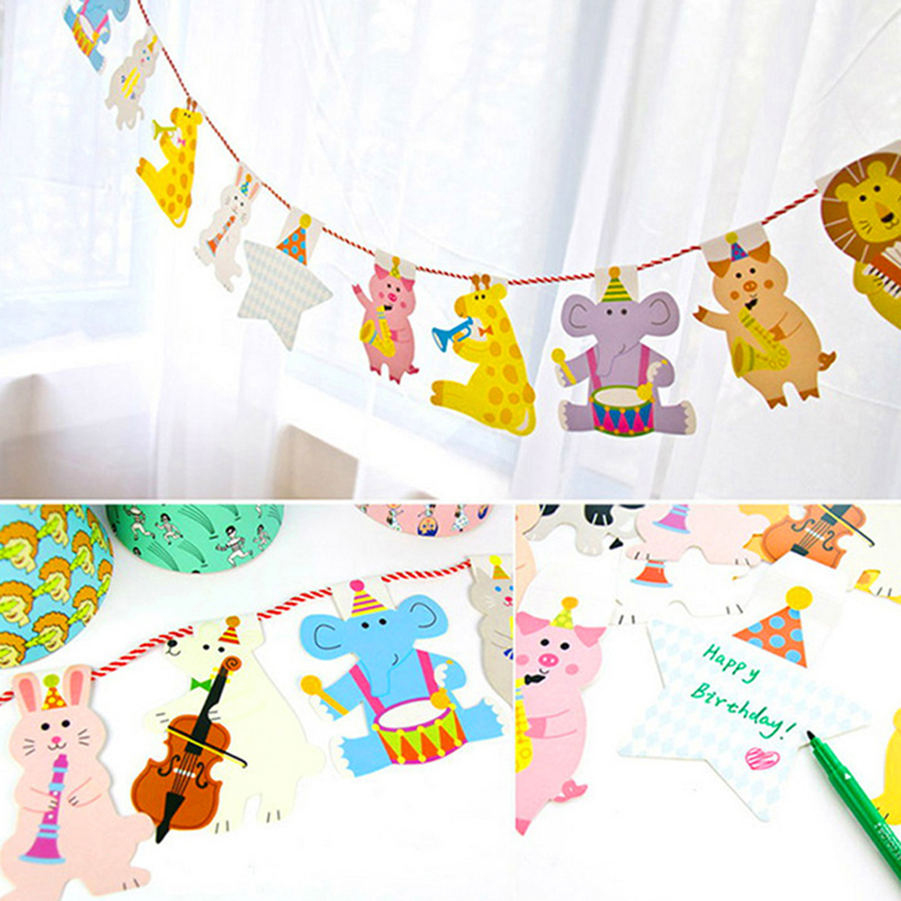 15pcs pack 2m happy family baby shower cartoon animal for Baby decoration stores